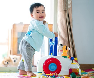 baby training walking with walker toy