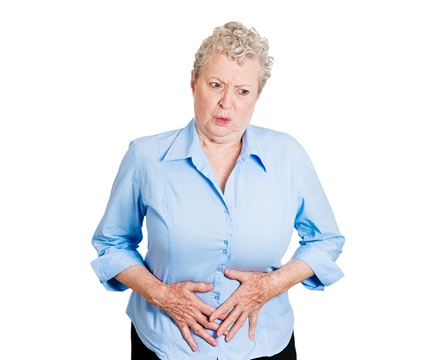 A woman is dealing with urinary incontinence.