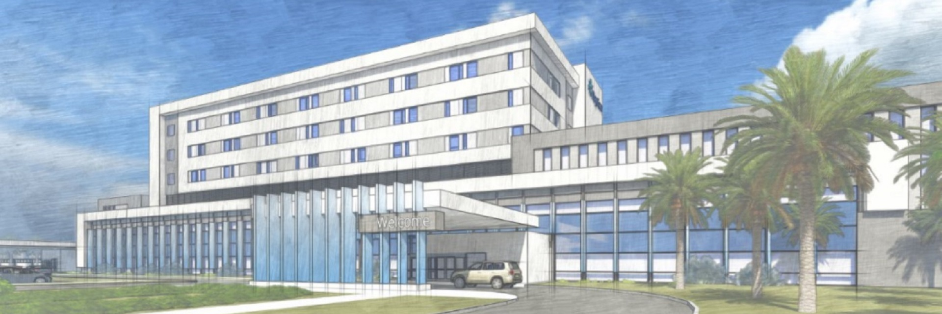 Artist's rendering of the new BayCare hospital that will be built in Wesley Chapel, Florida