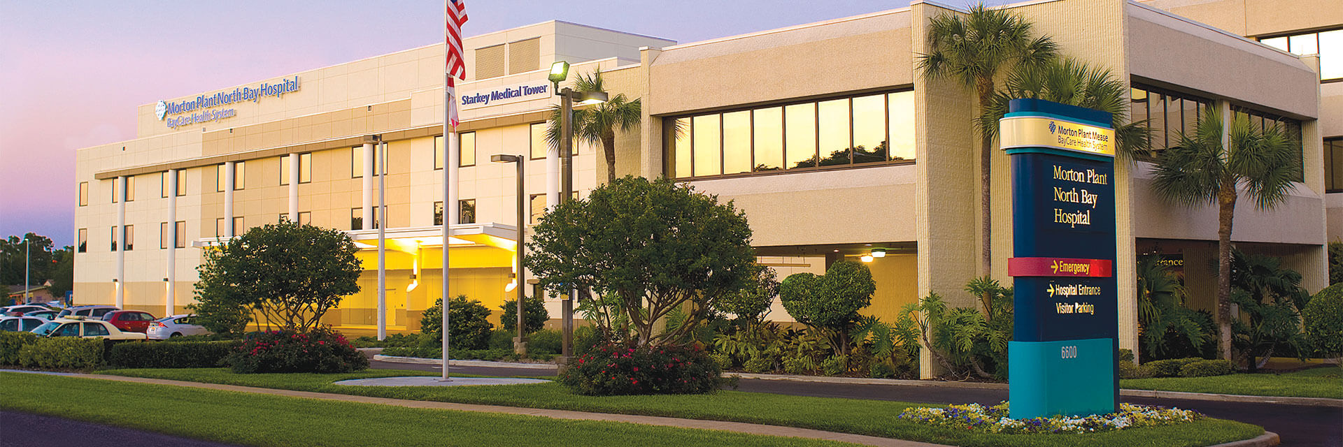 Morton Plant North Bay Hospital building in New Port Richey