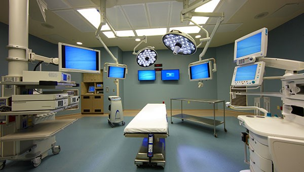 An operating room with surgical equipment at St. Joseph's Hospital-North