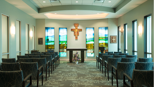 The chapel at St. Joseph's Hospital-South