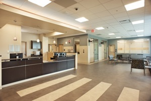 Emergency Department Waiting Room at St. Joseph's Hospital-South
