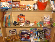 Toys available for children at hospital gift shop