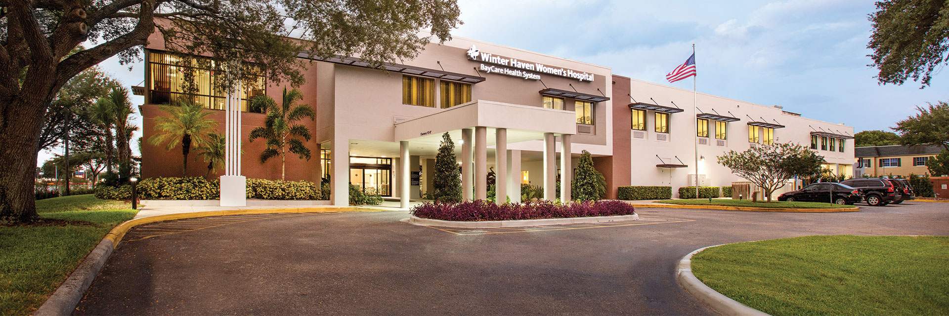 Winter Haven Women's Hospital main entrance in Winter Haven